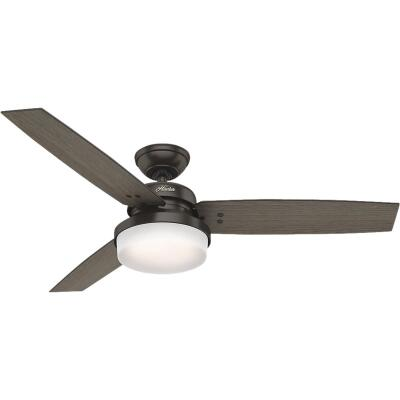 Hunter Sentinel 52 In. Premier Bronze Ceiling Fan with Light Kit