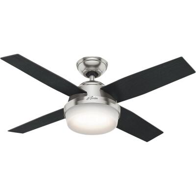 Hunter Dempsey 44 In. Brushed Nickel Ceiling Fan with Light Kit