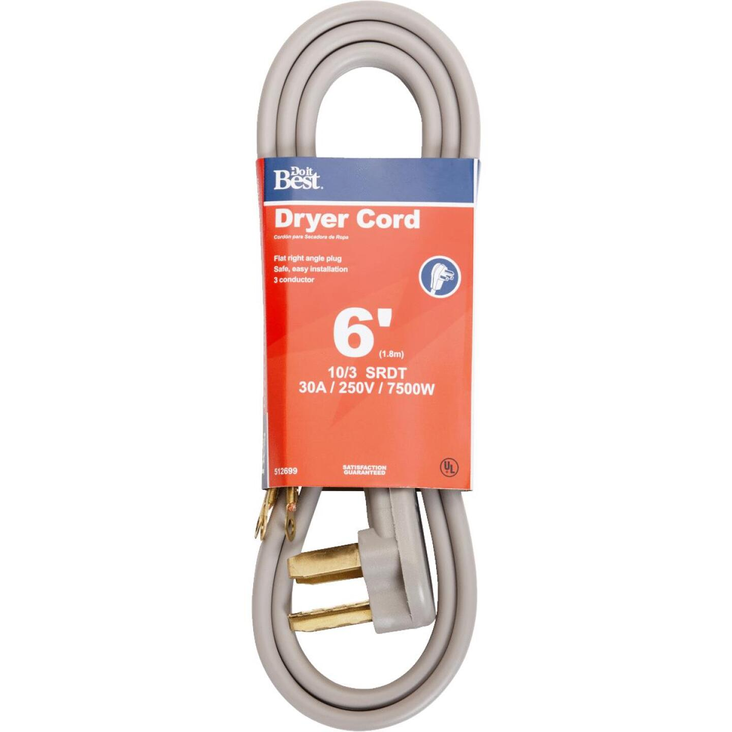 Do it Best 6 Ft. 10/3 30A Dryer Cord Image 1