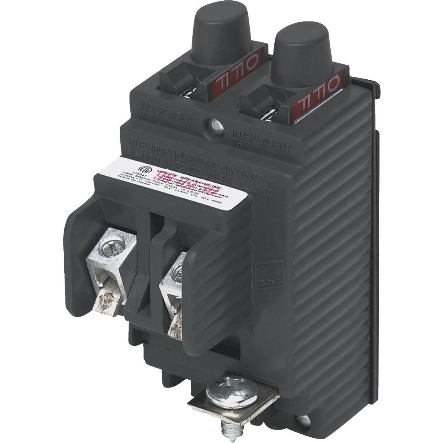 Connecticut Electric 15A/15A Twin Single-Pole Standard Trip Packaged Replacement Circuit Breaker For Pushmatic Image 1