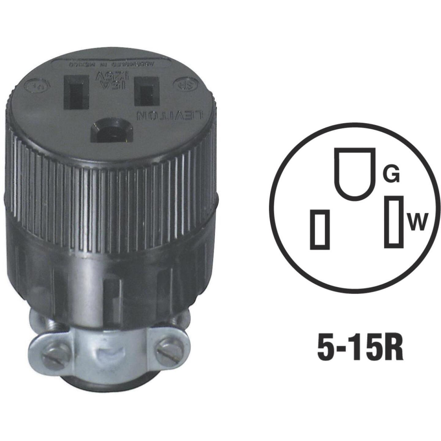 Do it 15A 125V 3-Wire 2-Pole Round Cord Connector Image 1