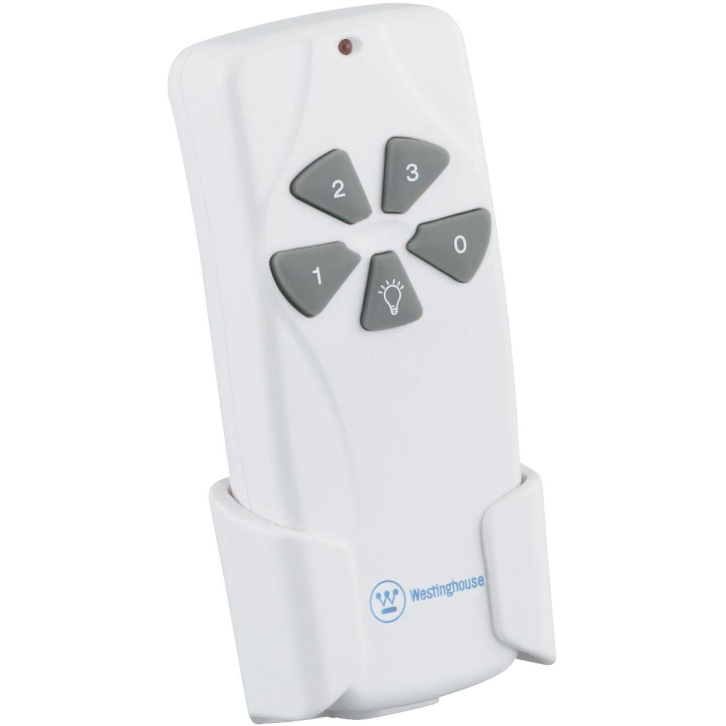 Westinghouse White Universal 3-Speed Ceiling Fan Remote Control Image 1