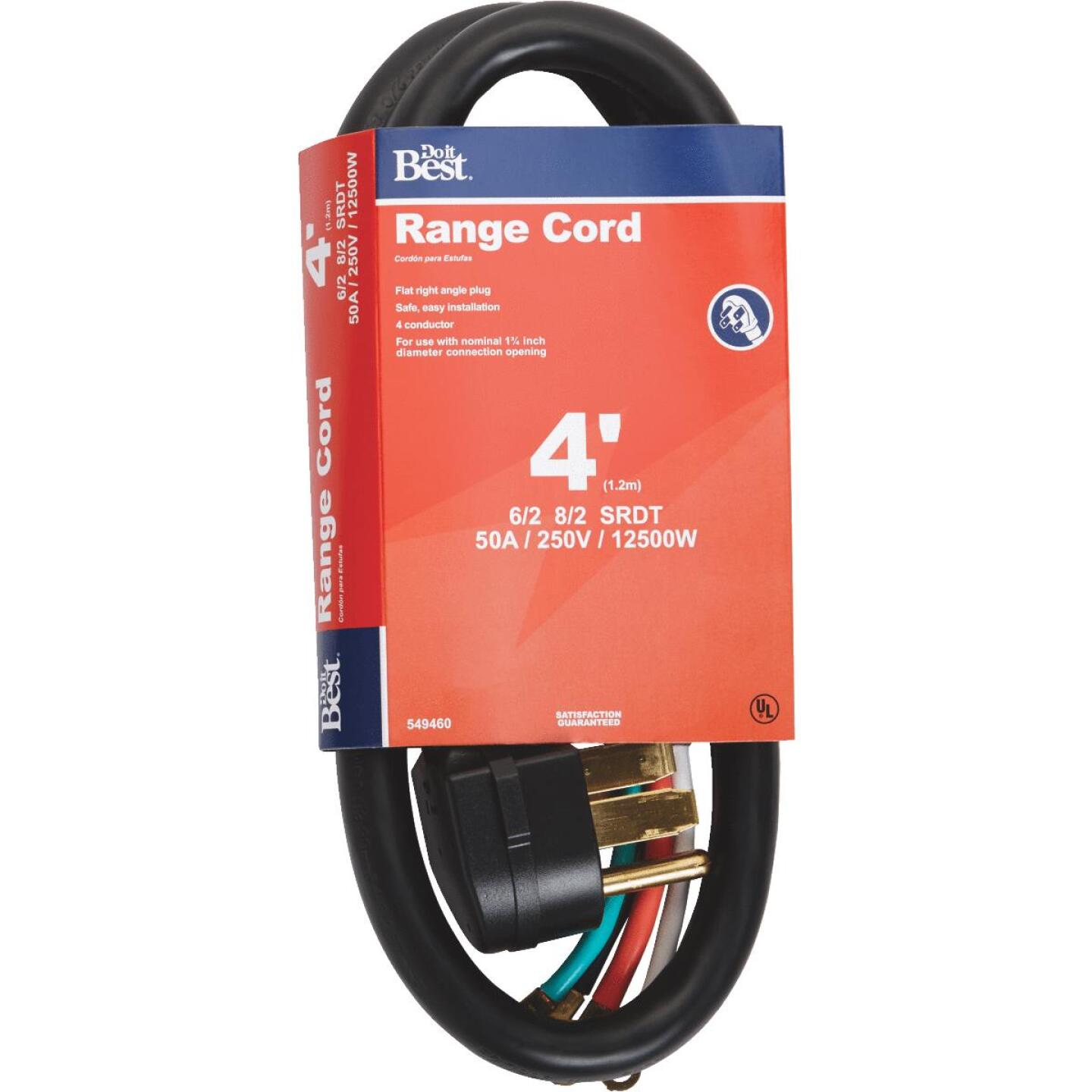 Do it Best 4 Ft. 6/2 + 8/2 Ga. 4-Conductor Range Cord Image 1