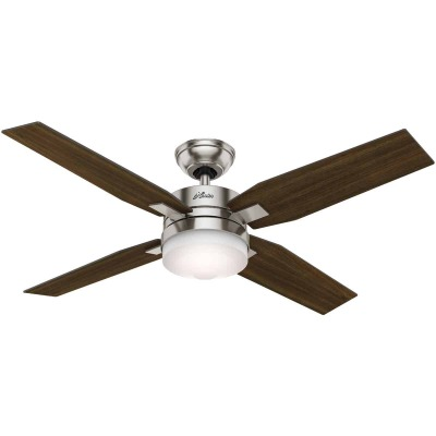 Hunter Mercado 50 In. Brushed Nickel Ceiling Fan with Light Kit and Fan