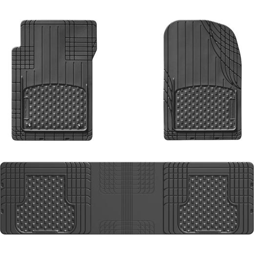WeatherTech AVM Trim-to-Fit Black Rubber Floor Mat (3-Piece)