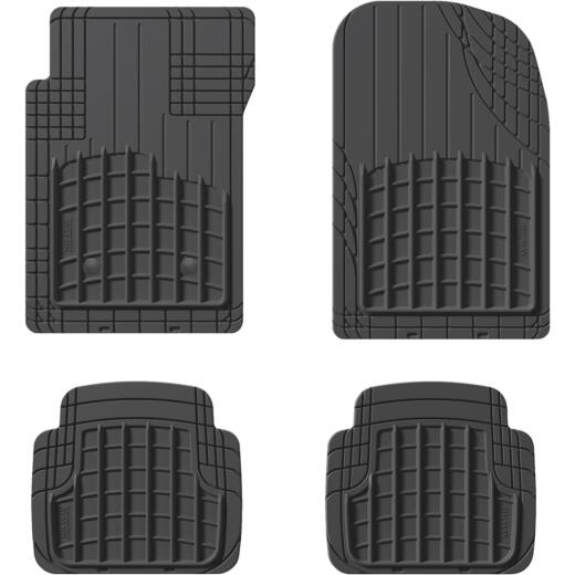 WeatherTech AVM Trim-to-Fit Black Rubber Heavy-Duty Floor Mat (4-Piece)