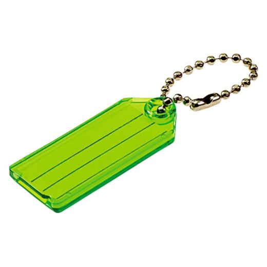 Lucky Line Transparent 2-1/4 In. I.D. Key Tag with Chain (2-Pack)