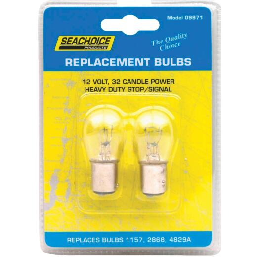 Seachoice Products 25/8W Marine Replacement Bulb, GE 1157 (2-Pack)