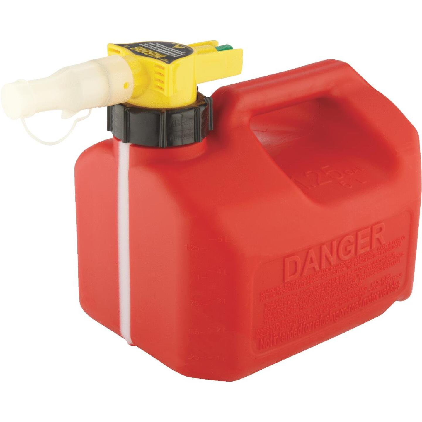 No-Spill 1-1/4 Gal. Plastic Gasoline Fuel Can, Red Image 3