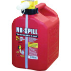 No-Spill 2-1/2 Gal. Plastic Gasoline Fuel Can, Red Image 1