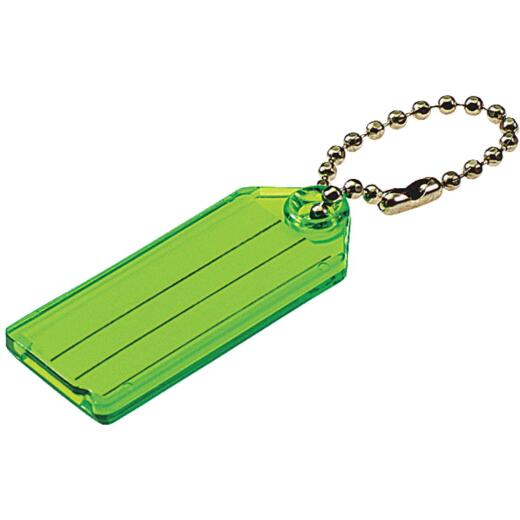 Lucky Line Transparent 2-1/4 In. I.D. Key Tag with Chain (100-Pack)