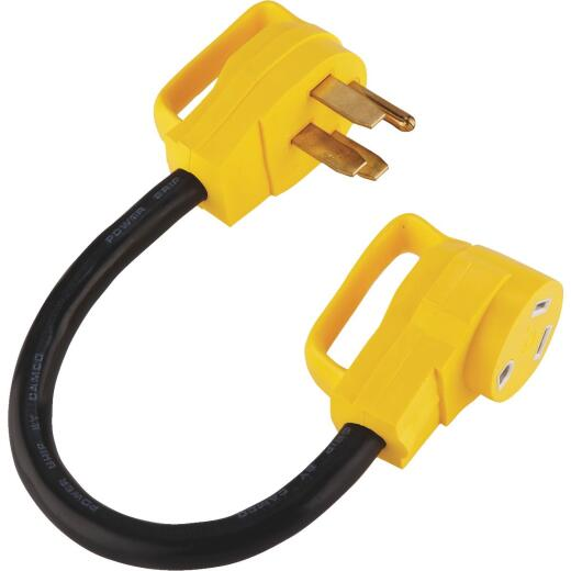 Camco PowerGrip 50A/30A Dogbone RV Power Cord Adapter