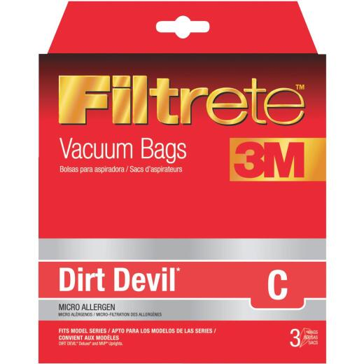 3M Filtrete Dirt Devil Type C Micro Allergen Vacuum Bag (3-Pack)