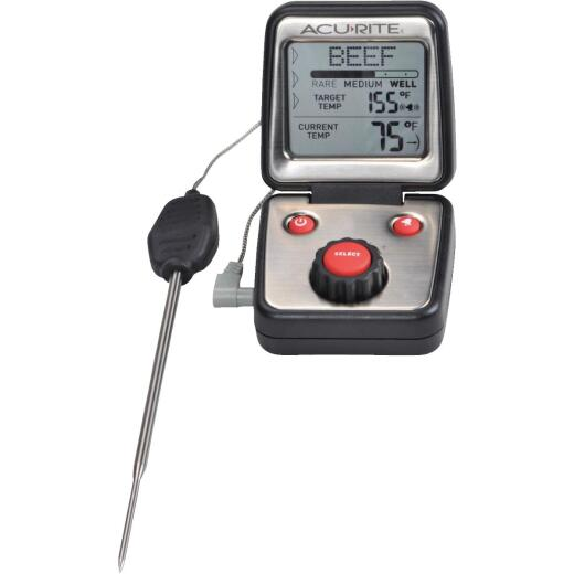 Acu-Rite Audible Digital Probe Cooking Kitchen Thermometer