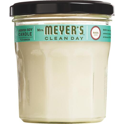 Mrs Meyer's Clean Day 7.2 Oz. Basil Jar Candle