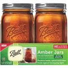 Ball Collection Elite Quart Wide Mouth Amber Canning Jar (4-Count) Image 1