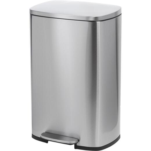 Honey Can Do 50 Liter Stainless Steel Step-On Wastebasket
