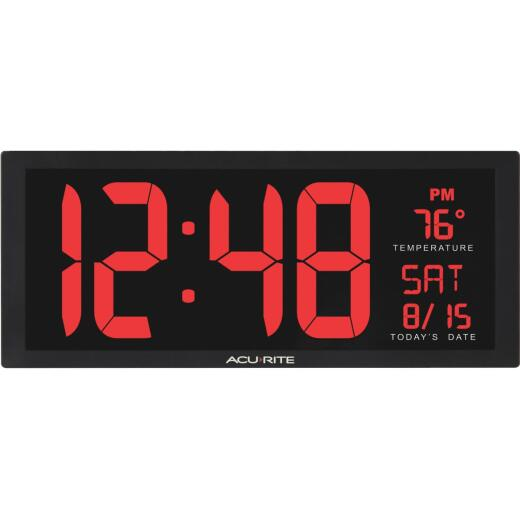 Acurite 14.5 In. Digital Wall Clock