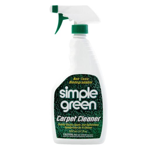 Simple 22 Oz. Green Carpet Cleaner And Spot Remover