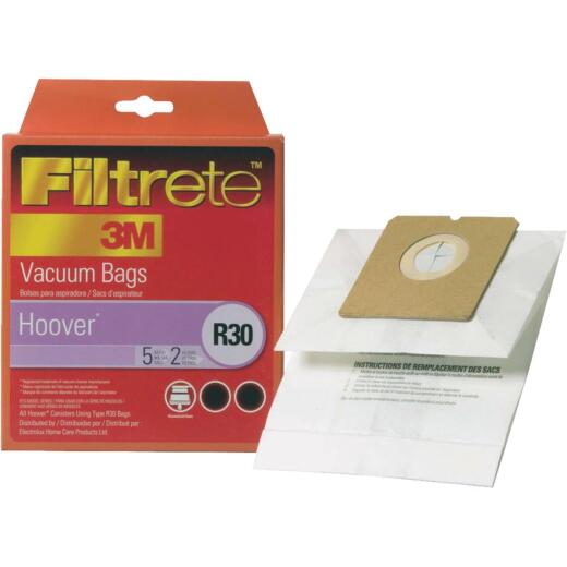 3M Filtrete Hoover Type R30 Allergen Vacuum Bag (5-Pack)