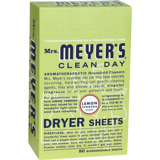 Mrs Meyer's Clean Day Lemon Dryer Sheet (80 Count)