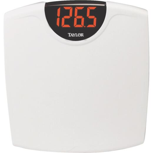 Taylor Digital 330 Lb. Bath Scale, White