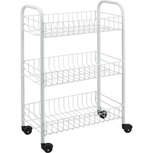 Metaltex 3-Tier Rolling Storage Cart