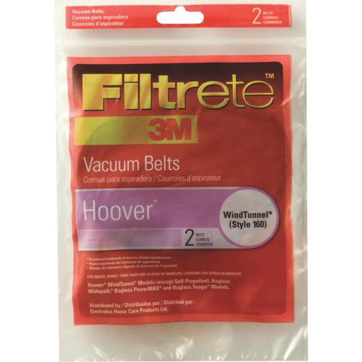 3M Filtrete Hoover Type 160 WindTunnel, Widepath, PowerMAX, and Tempo Vacuum Cleaner Belt (2-Pack)