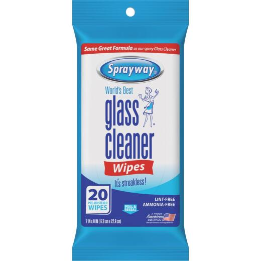Sprayway Glass & Surface Cleaner Wipe (20-Count)