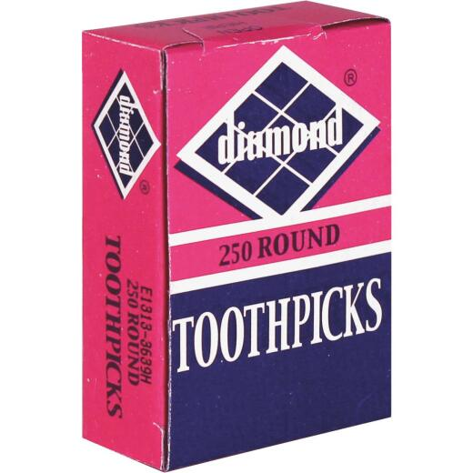 Diamond Round Wood Toothpicks (250-Count)