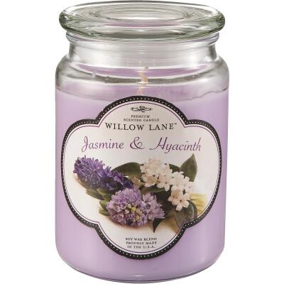 Candle-Lite Willow Lane 19 Oz. Jasmine & Hyacinth Jar Candle