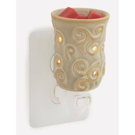 Candle Warmers Chai White Ceramic Pluggable Fragrance Warmer