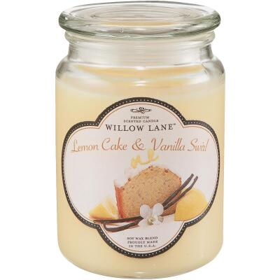 Candle-Lite Willow Lane 19 Oz. Lemon Cake & Vanilla Swirl Jar Candle