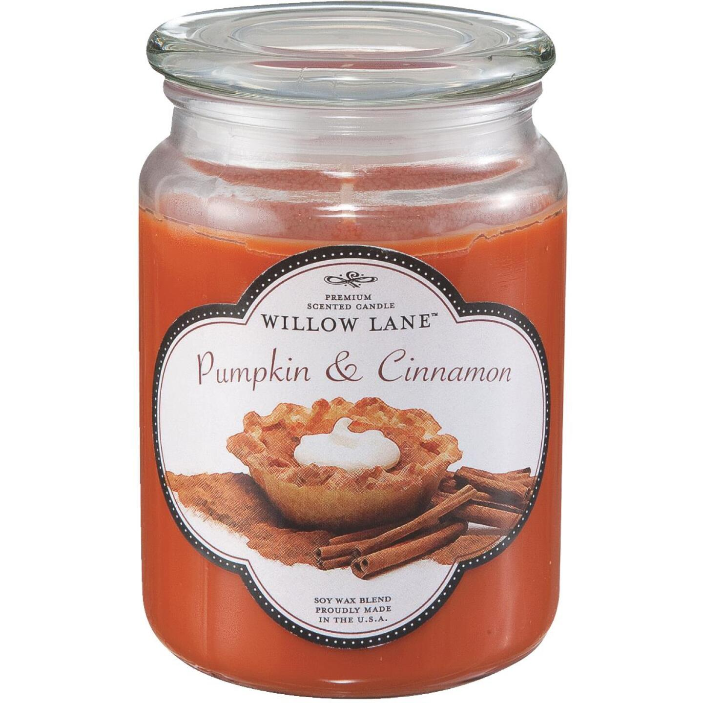 Candle-Lite Willow Lane 19 Oz. Pumpkin & Cinnamon Jar Candle Image 1