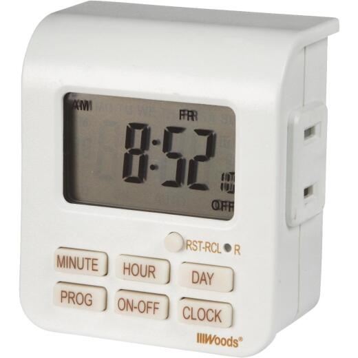 Woods 125V Indoor Digital Timer