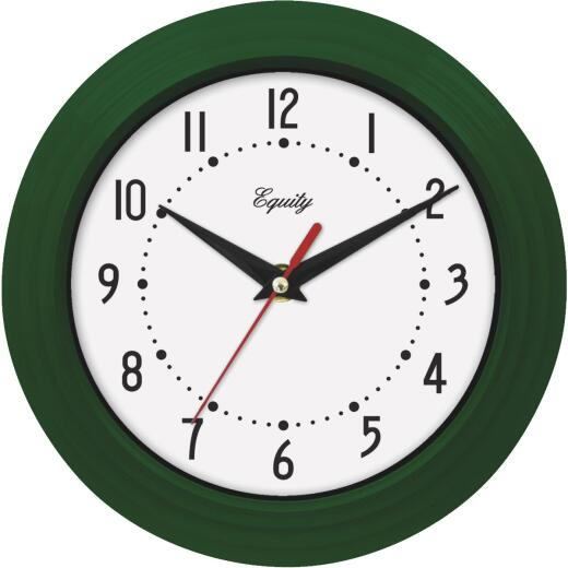 La Crosse Technology Equity Green Traditional Wall Clock