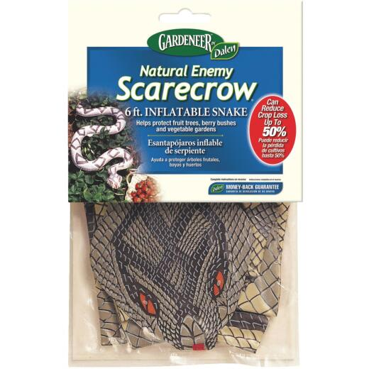 Gardeneer Natural Enemy Scarecrow 6 Ft. Inflatable Snake Pest Deterrent Decoy