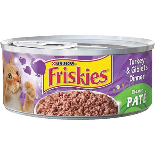Friskies 5.5 Oz. All Ages Turkey & Giblets Dinner Cat Food