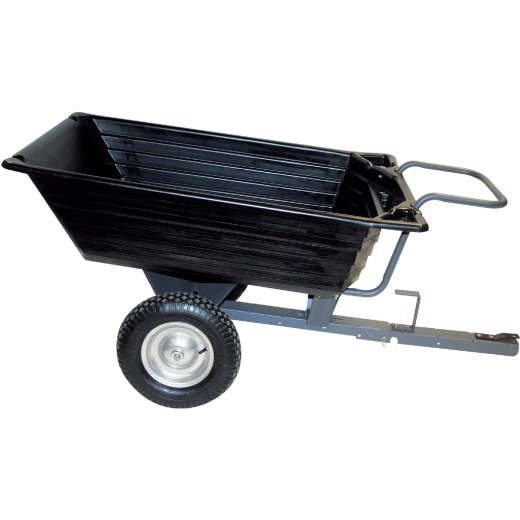 Precision 10 Cu. Ft. 650 Lb. Poly Tow-Behind Garden Cart