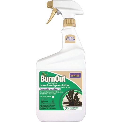 Bonide BurnOut 1 Qt. Ready To Use Trigger Spray Organic Weed & Grass Killer