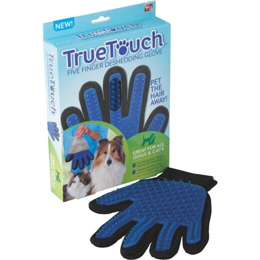 True Touch Silicone Tip Five Finger Deshedding Pet Glove