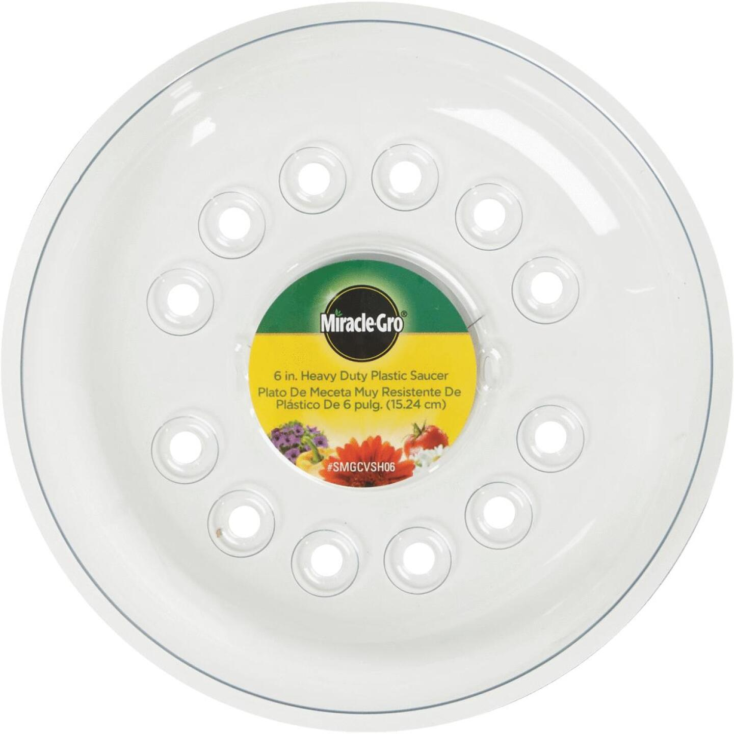 Miracle-Gro 6 In. Clear Plastic Flower Pot Saucer Image 2