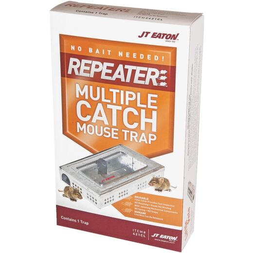 JT Eaton Repeater Multiple Catch Mechanical Mouse Trap with Inspection Window (1-Pack)