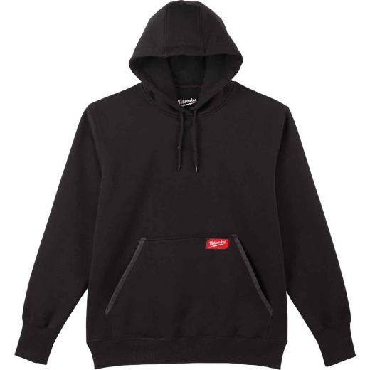 Milwaukee 2XL Black Heavy-Duty Pullover Hooded Sweatshirt
