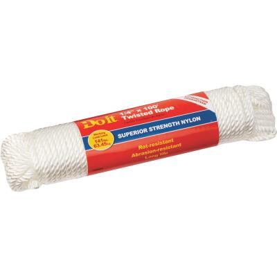 Do it 1/4 In. x 100 Ft. White Twisted Nylon Packaged Rope