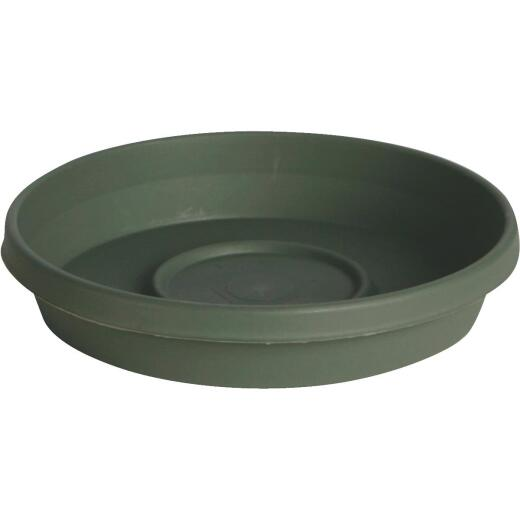 Bloem Terra Living Green 12 In. Plastic Flower Pot Saucer