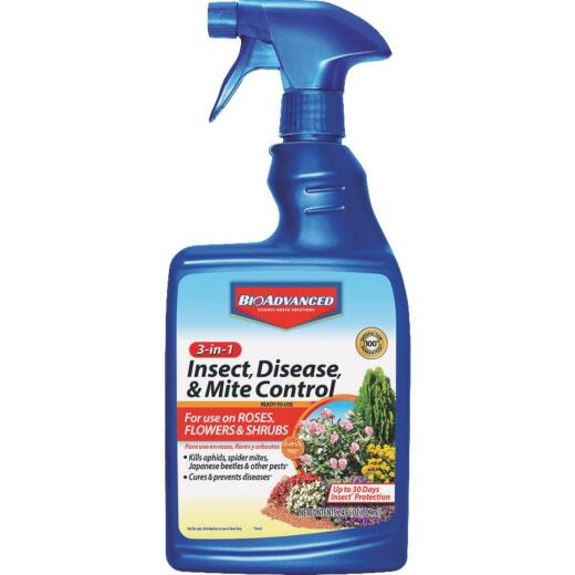 BioAdvanced 3-In-1 24 Oz. Ready To Use Trigger Spray Insect & Disease Killer
