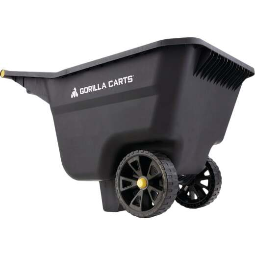 Gorilla Carts 5 Cu. Ft. Poly Yard Cart