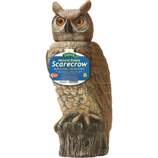 Gardeneer Natural Enemy Scarecrow 18 In. H. Rotating Head Owl Pest Deterrent Decoy