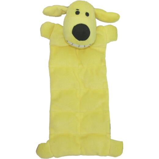 Multipet Loofa Dog 12 In. Plush Squeaker Mat Dog Toy